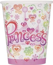 8 Birthday Princess Paper Party Cups